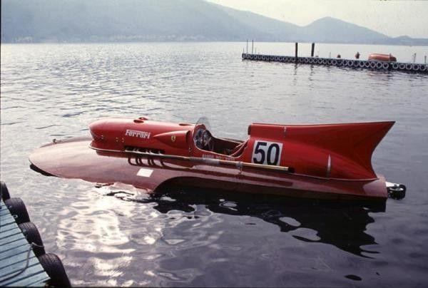 Ferrari Boat Made By Enzo Himself Ferrari Boat Ferrari Hydroplane Hydroplane Boats