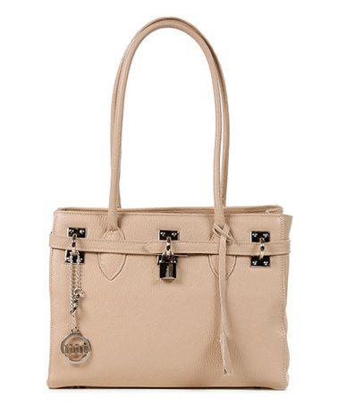 Powder Pebbled Leather Shoulder Bag