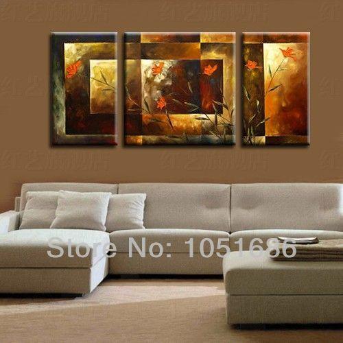 Cuadros abstractos modernos para dormitorios de mujer for Lienzos para salon modernos