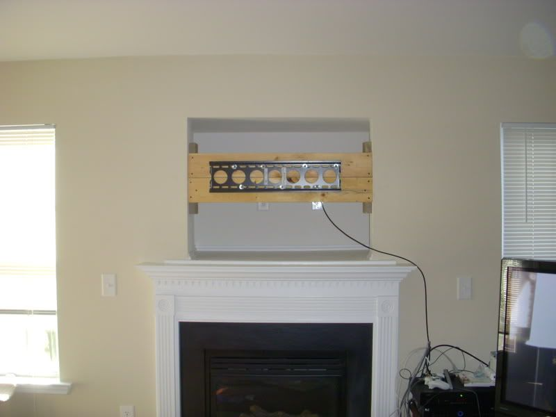 Cable Box Over Fireplace Wires To My Kitchen Speakers A Sub Cable Extra Coax And 3 Cat5s Tv Above Fireplace Tv Over Fireplace Tv Nook