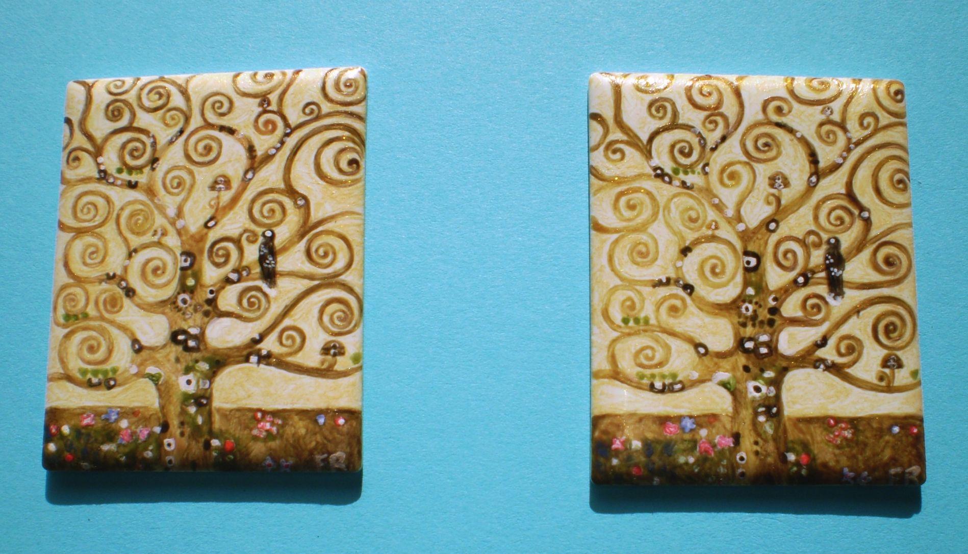 www.decortack.com Email:info@decortack.it Per info:0957142211- 3294198247 For International Buyers +39 3337199108 #ceramica #pitturaamano su #porcellana particolare #alberodella vita di #Klimt