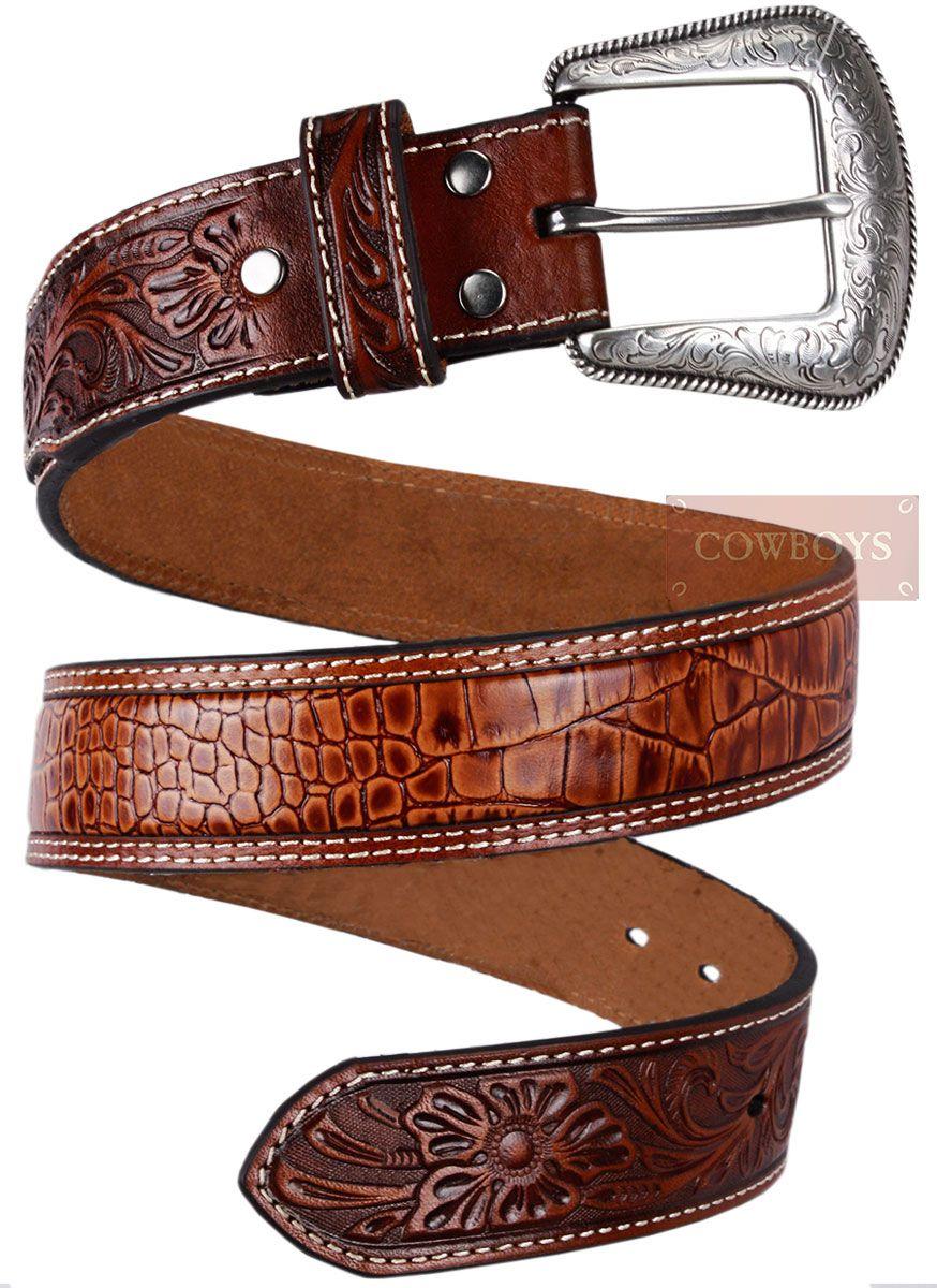 ac64bc9af Cinto masculino em couro. - importado. | Из кожи. | Cowboy gear ...