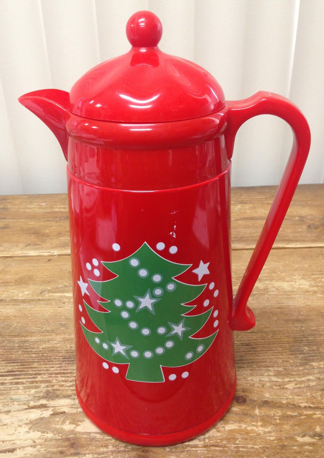red waechtersbach christmas tree thermal coffee carafe with a green christmas tree from ebay seller