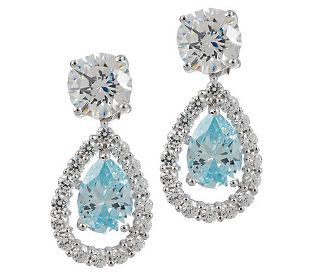 These Diamonique earrings are the epitome of classic beauty!