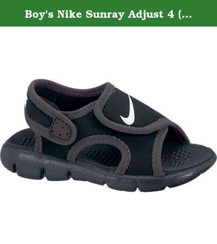 e5add8431ff3 Boy s Nike Sunray Adjust 4 (TD) Toddler Sandal Black Anthracite White Size  6 M US. The lightweight Boys  Nike Sunray Adjust 4 (TD) Toddler Sandal is  perfect ...