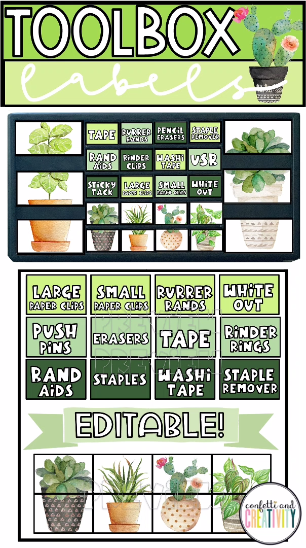 Plant Theme Classroom Teacher Toolbox Labels