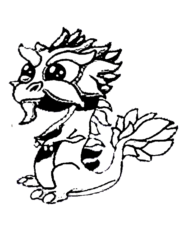 DragonVale: Rainbow Dragon | Coloring Pages for Kids | Pinterest ...