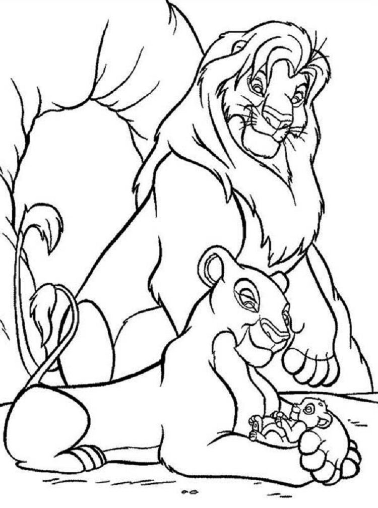 Disney Simba Coloring Pages King Coloring Book Coloring Pictures Cartoon Coloring Pages