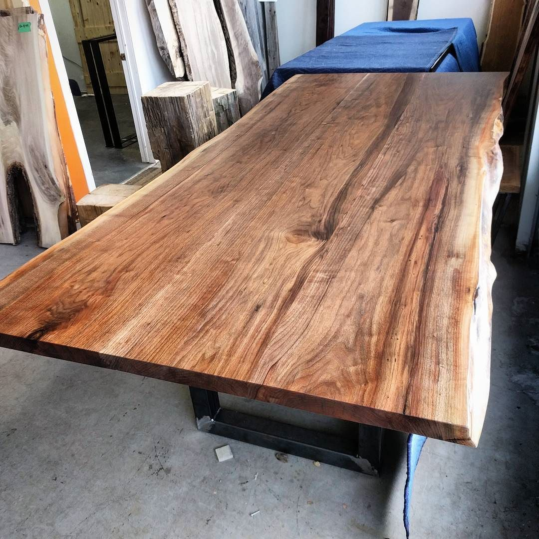 Beau Nice Big Live Edge Black Walnut Table Top Working Its Way Through The  Toronto Shop This Week. This Beast Is 9 Ft Long And 4 Ft Wide   Finished On  A Satin ...