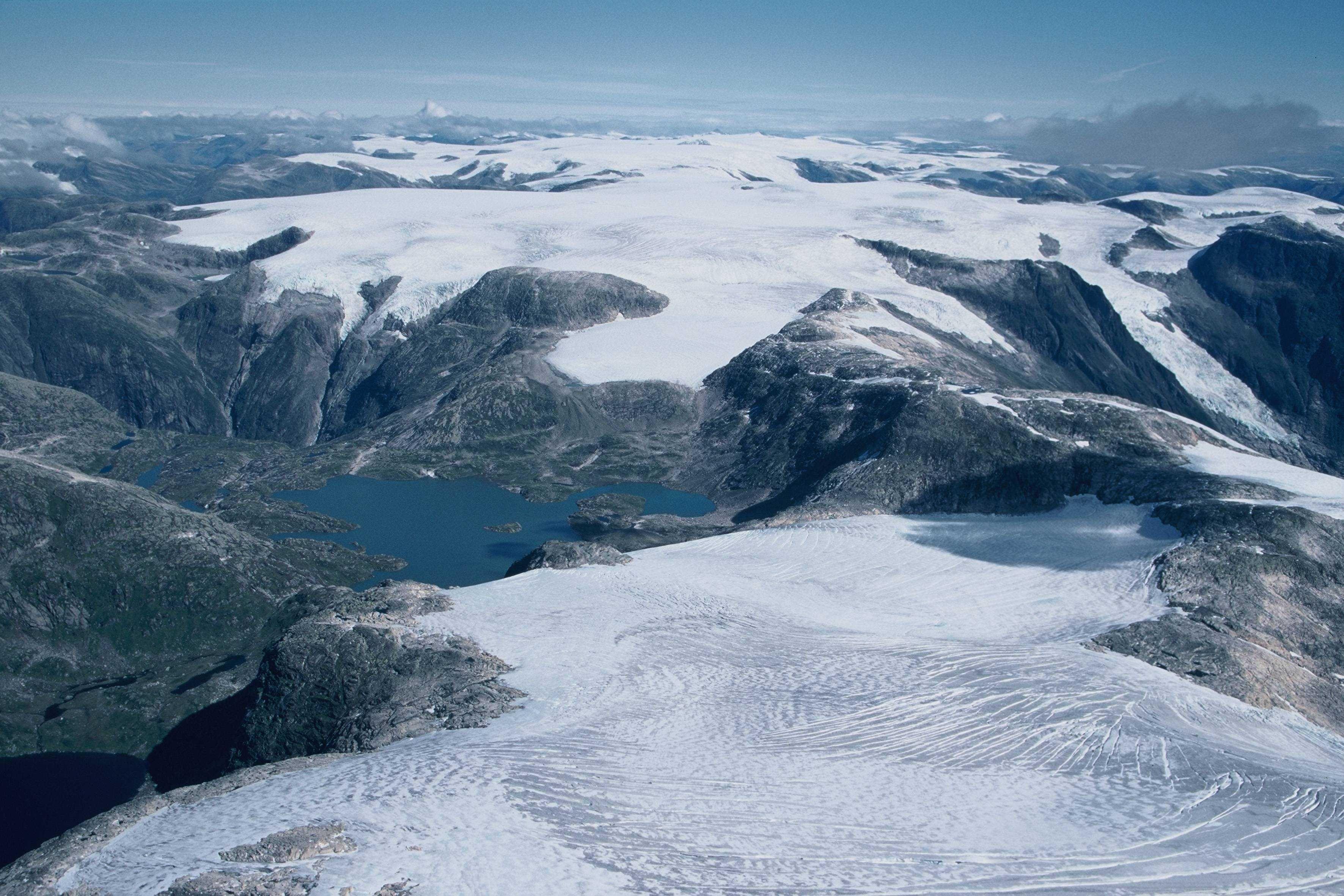Jostedalsbreen gletsjer Noorwegen