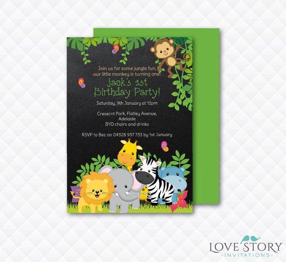 diy printable jungle birthday jungle invitation birthday invitation jungle party safari