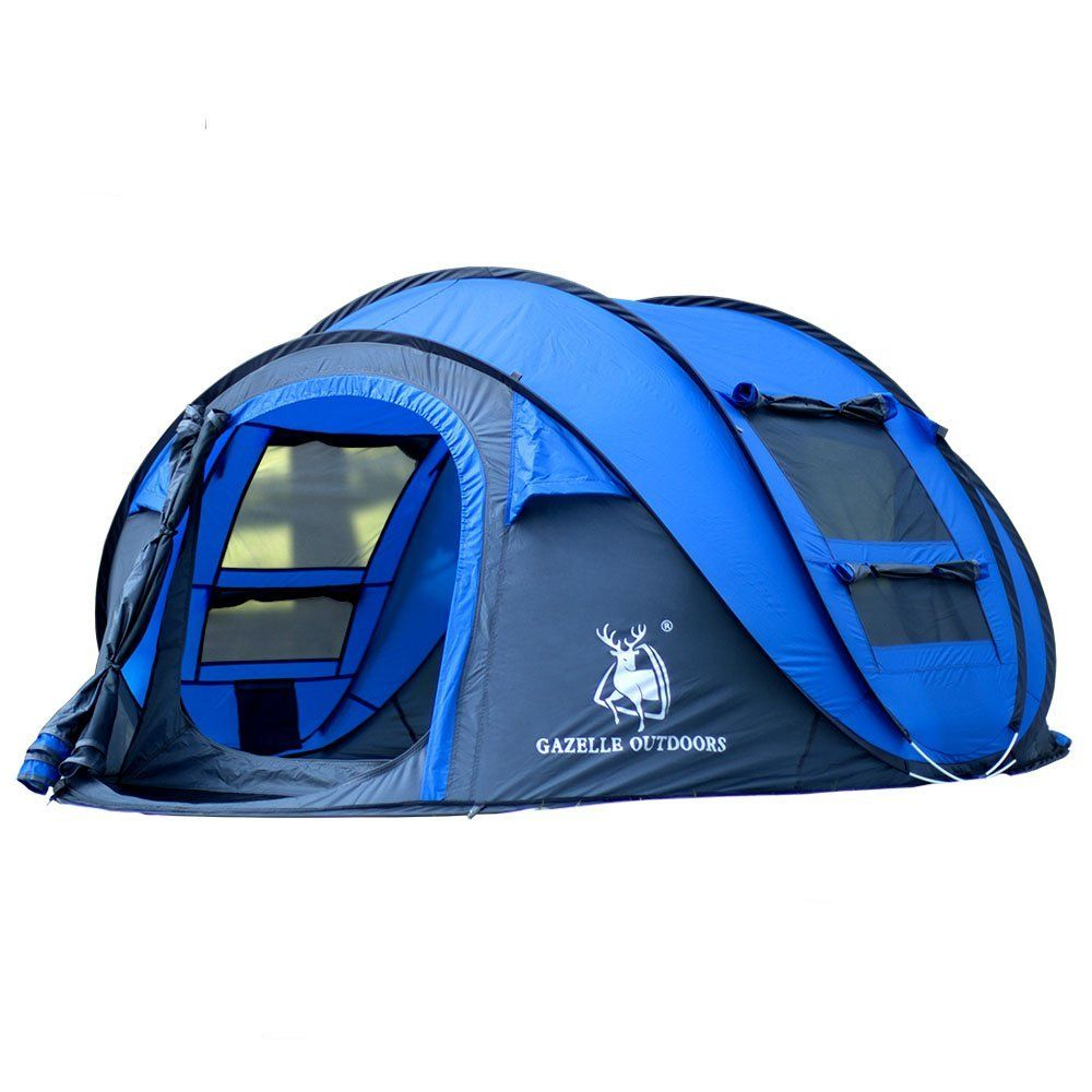 GAZELLE OUTDOOR 4-Person Instant Pop-Up Tent - Automatic Setup in Seconds -  sc 1 st  Pinterest & GAZELLE OUTDOOR 4-Person Instant Pop-Up Tent - Automatic Setup in ...
