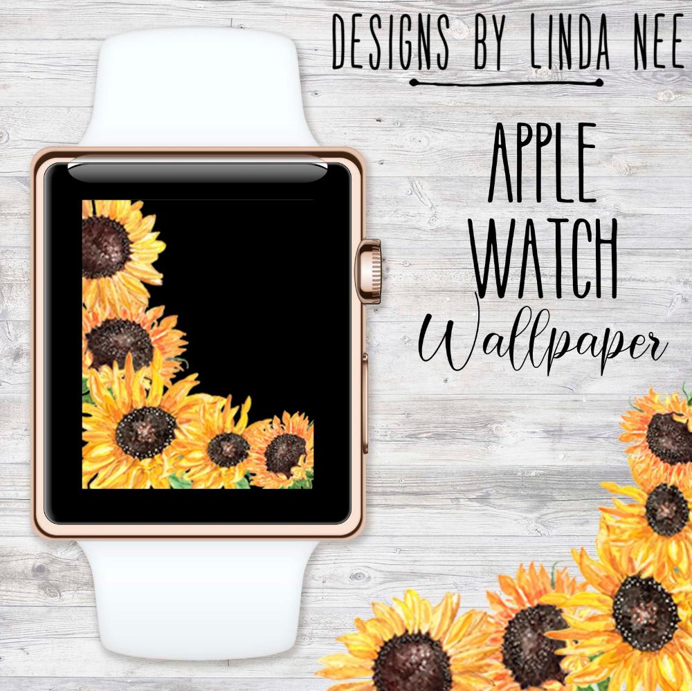 Sunflower Apple Watch Wallpaper Sunflower Wallpaper For Apple Etsy Apple Watch Wallpaper Watch Wallpaper Sunflower Wallpaper