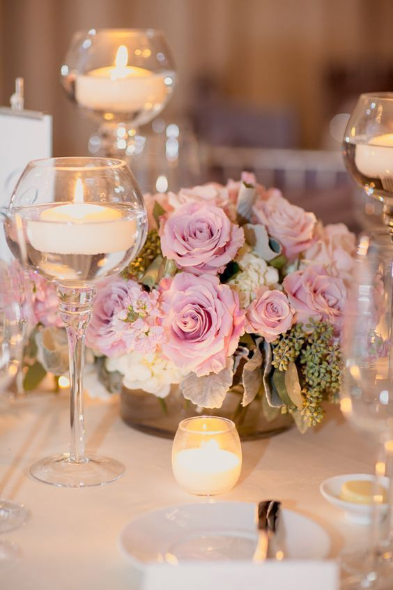 20 Romantic Wedding Ideas with Candles | Wedding centerpieces ...