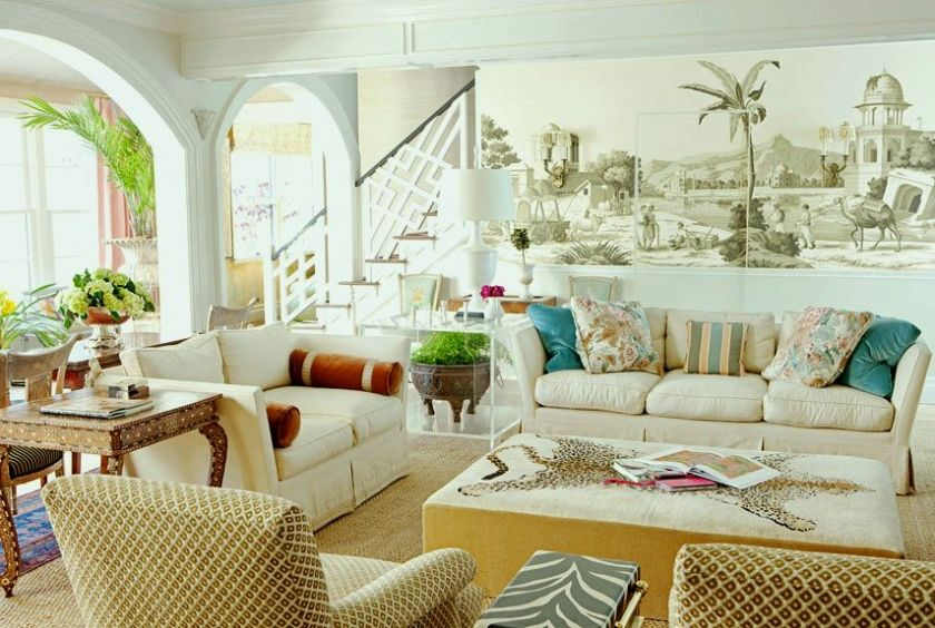 A Hollywood Regency Style Inspired Media Room Coastal Living Rooms Home Home Decor