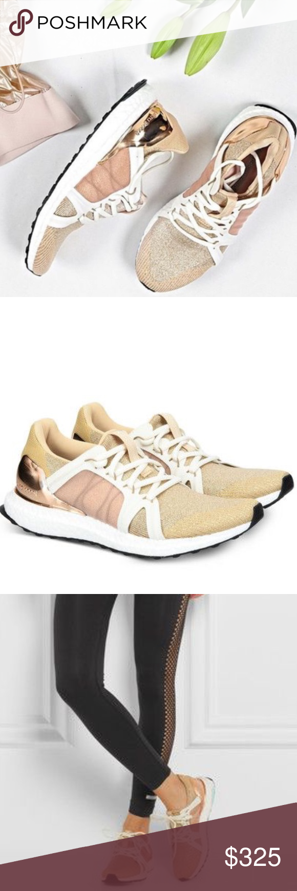 5317151eb596 EUC RARE Adidas Stella McCartney Gold Ultra Boost ROSE GOLD GOLD ULTRA  BOOSTS AMAZING CONIDTION