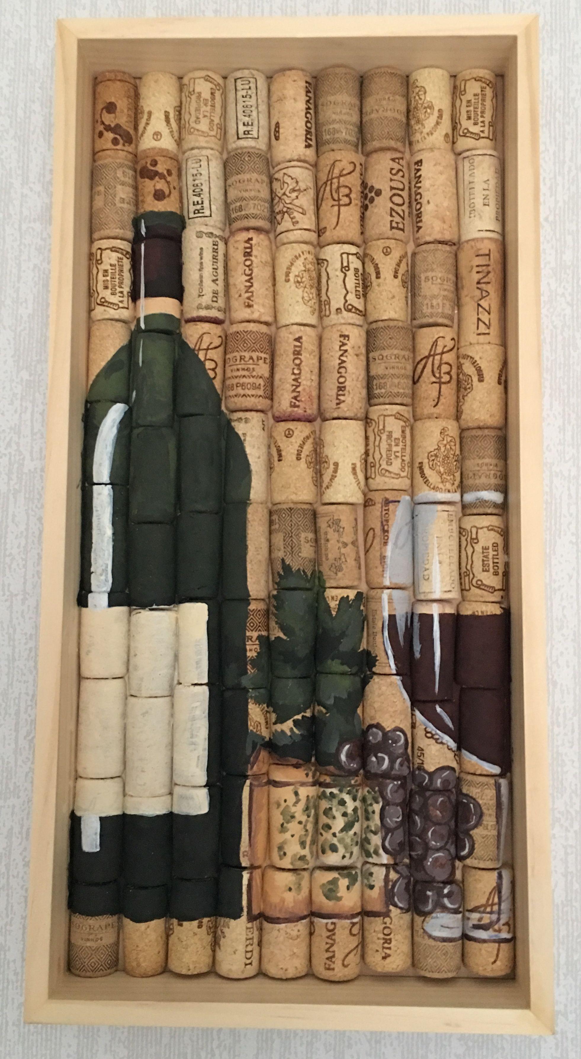 Cork wine art made by Alina K
