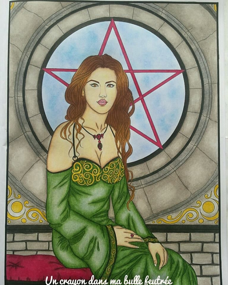 Gothic Selina Fenech Secret garden colouring, Aurora
