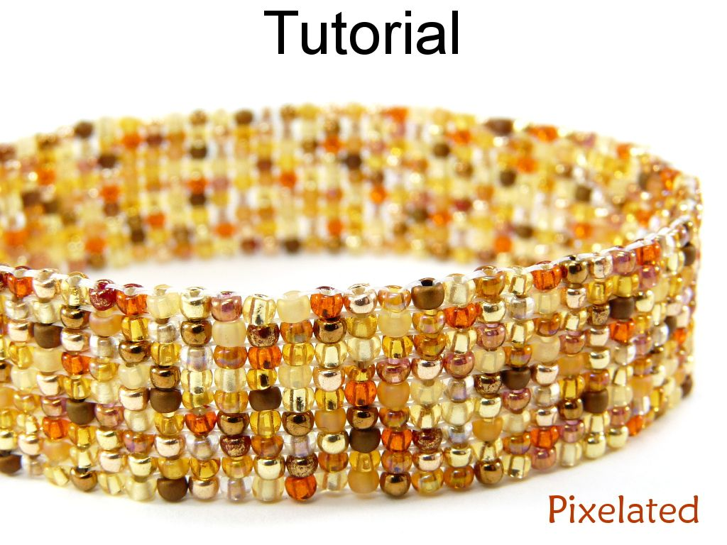 Bracelet tutorial beading pattern jewelry making square stitch bracelet tutorial beading pattern jewelry making square stitch no loom beaded bracelets seed beads colorful mix pdf digital file baditri Images