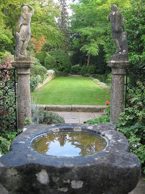 enchanted garden- I have a water bowl like that! | outside