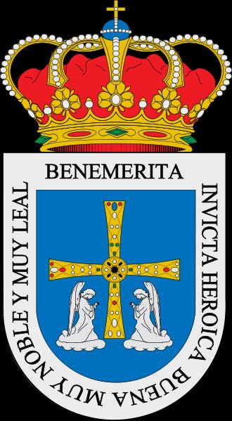 El Escudo De Armas De Oviedo Representa La Cruz De Los Angeles