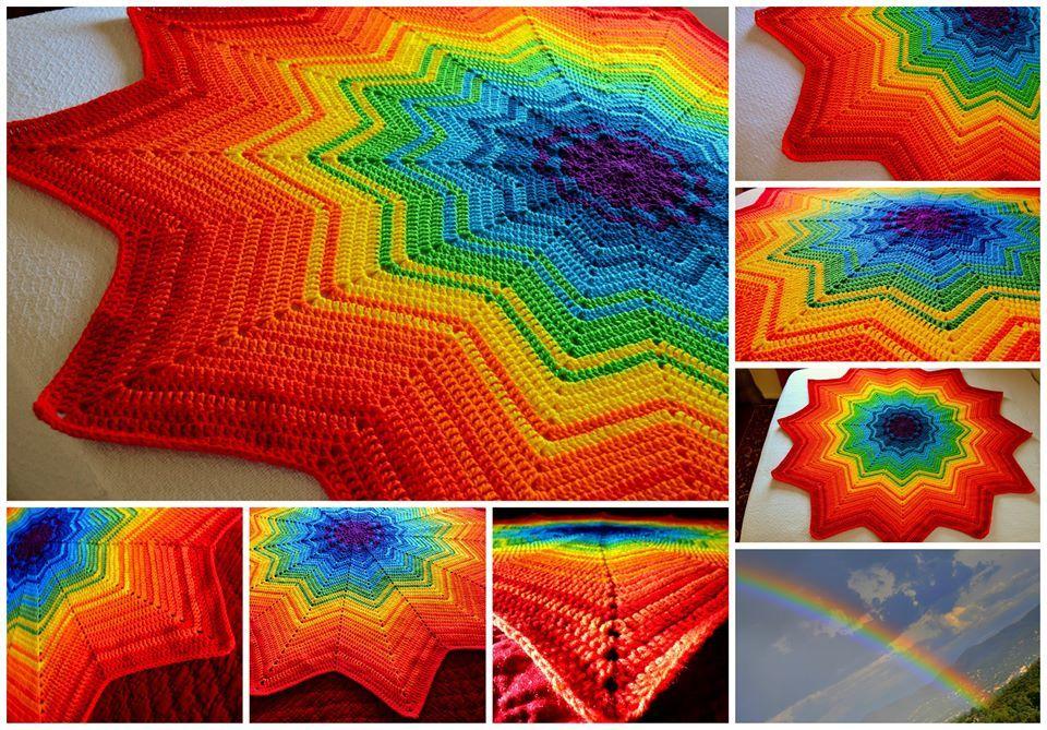 Round ripple Blanket from Ravelry... FREE PATTERN | round ripple ...