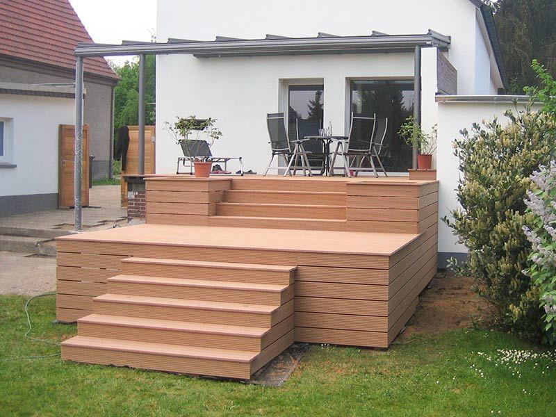 Wpc Stufen vorher nachher wpc terrasse mit stufen integrierter led