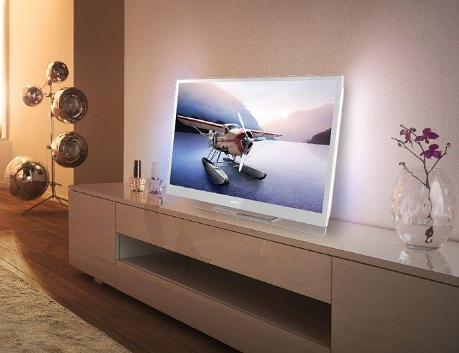 philips designline edge tv with ambilight red dot design award winner home theatre rooms. Black Bedroom Furniture Sets. Home Design Ideas