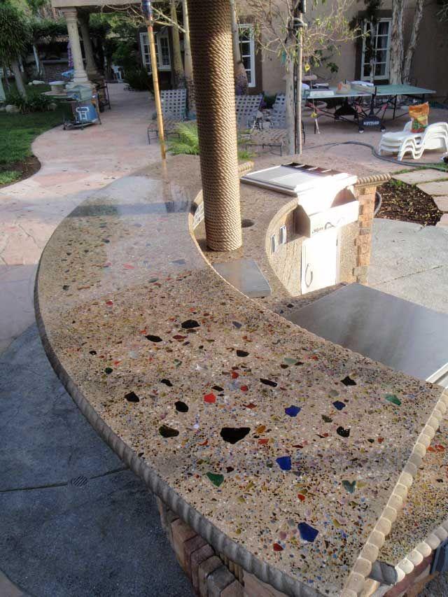 Terrazzo - concrete with glass