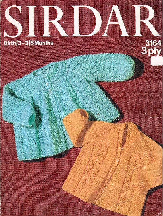 acc0208e7783 PDF Vintage Knitting Pattern 1960s Sirdar Baby Matinee Coats by ...