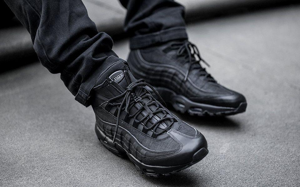 nike air max 95 sneaker boot black\/black-anthracite