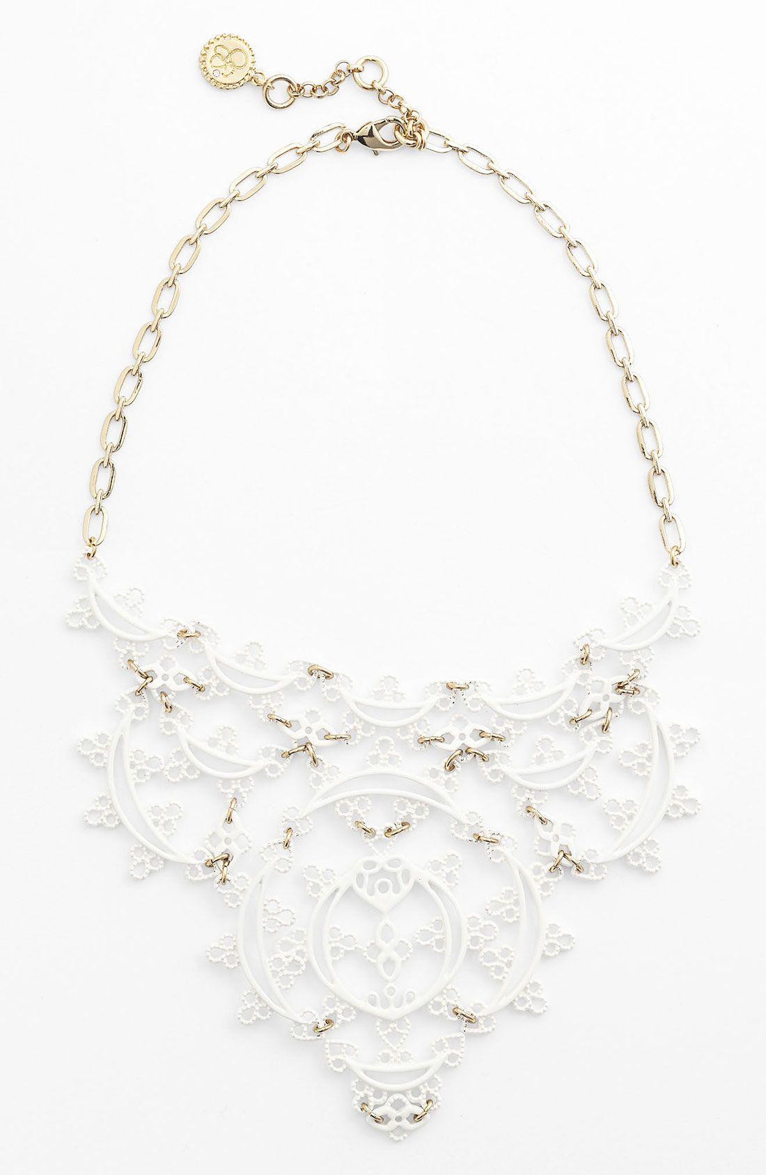 Jessica simpson lacey bib necklace nordstrom vintage