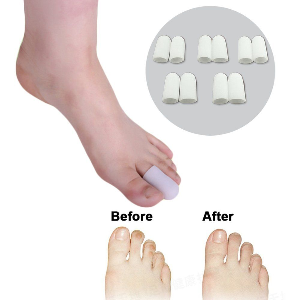 10pcs Bunion Toes Separator Calluses Corn Blister Silicone Cover Hallux Valgus Correction 1pair Foot Fingers Toe Thumb Protect Finger Protector Care S002