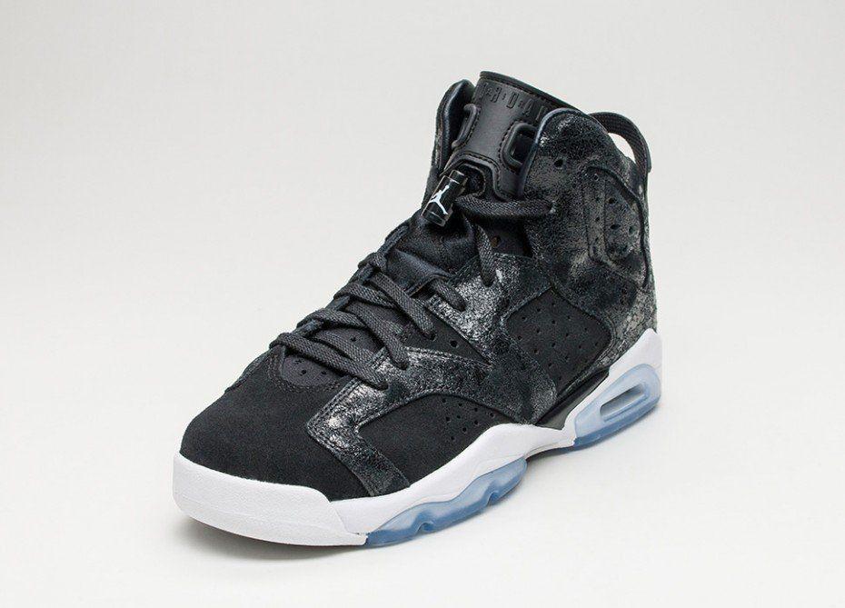 sports shoes f9f34 31040 Nike Air Jordan 6 Retro Premium GS *Heiress* (Black / Black ...