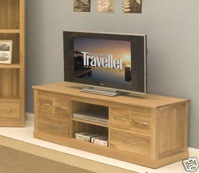 fusion solid oak furniture widescreen tv dvd cabinet stand unit ebay