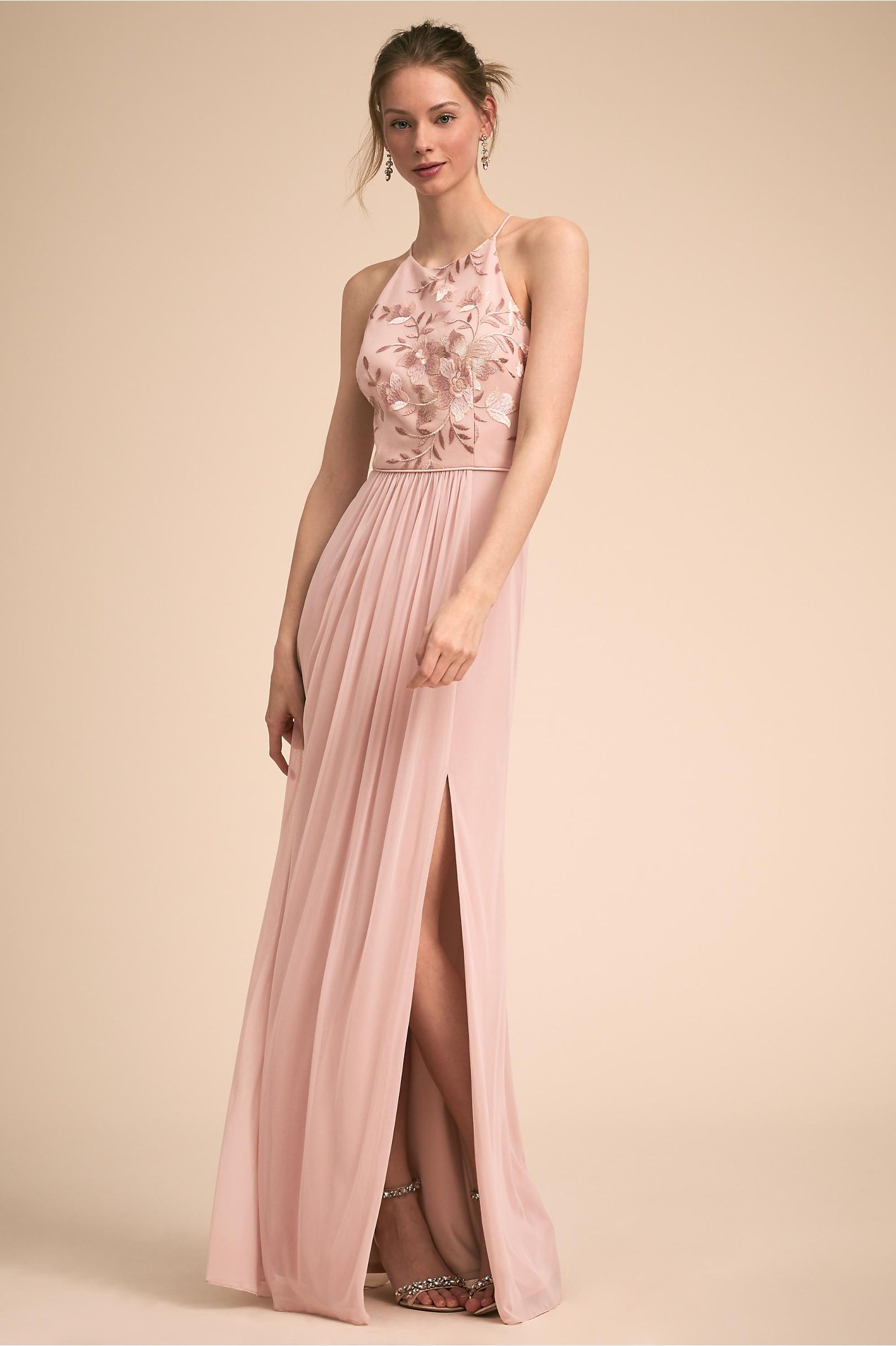 Dresses to wear to a fall wedding for a guest  Carine Dress Rosewood in Bridesmaids u Bridal Party  BHLDN  Dream