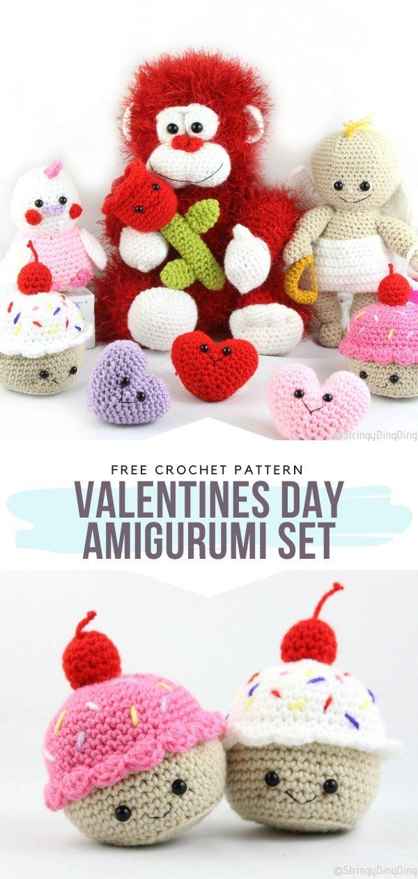 The Ultimate Valentine's Amigurumi Free Crochet Patterns - Free Crochet Patterns
