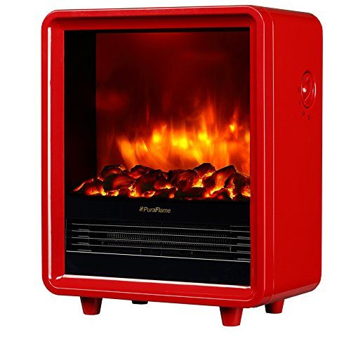 Puraflame Octavia Red 12 Inch Portable Electric Heater Eco