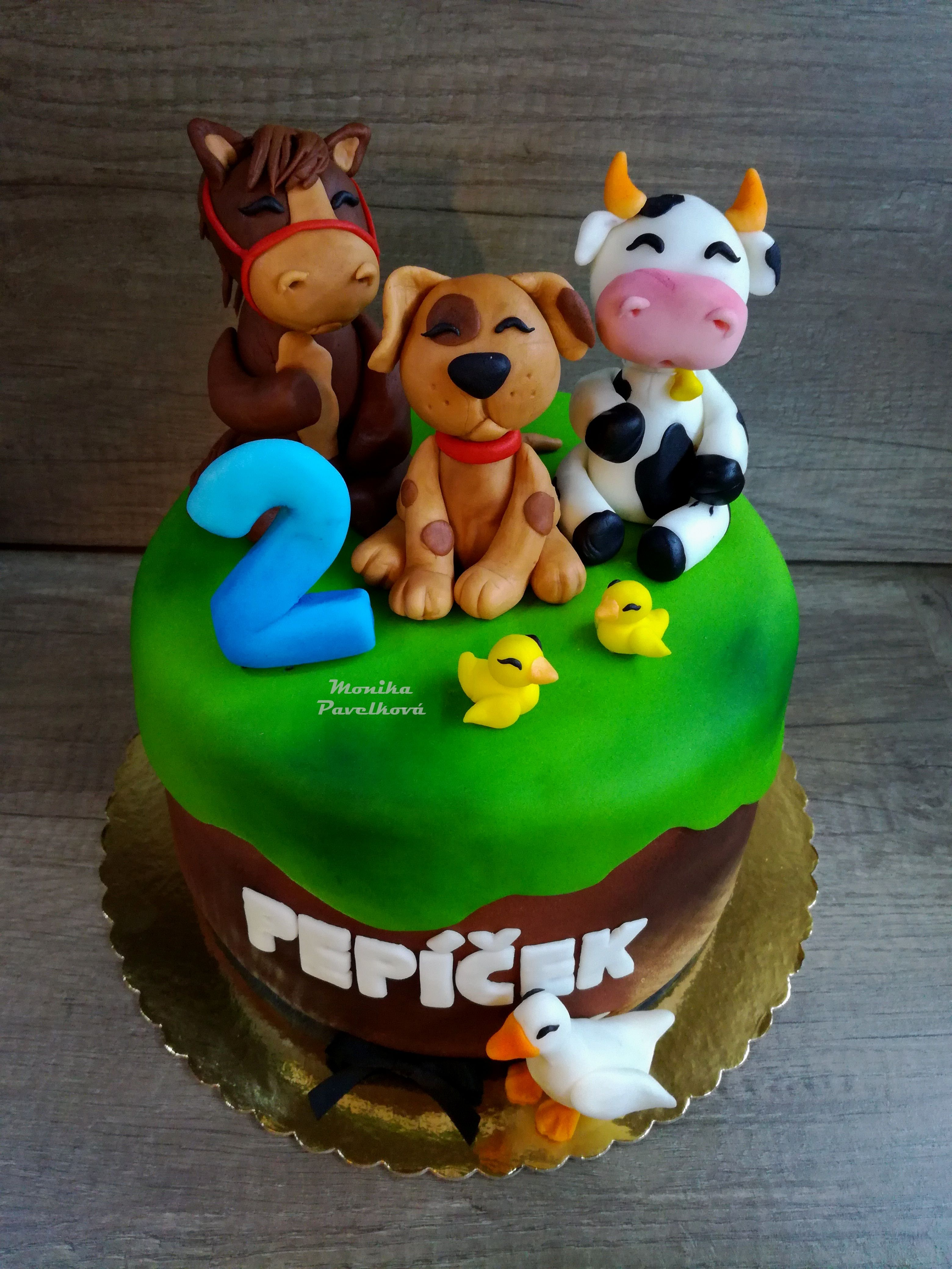 Farm animals CAKE. DORT zvířátka z farmy. Farm animal