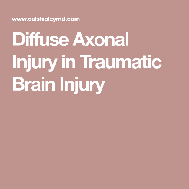 Photo of Diffuse Axonal Injury in Traumatic Brain Injury