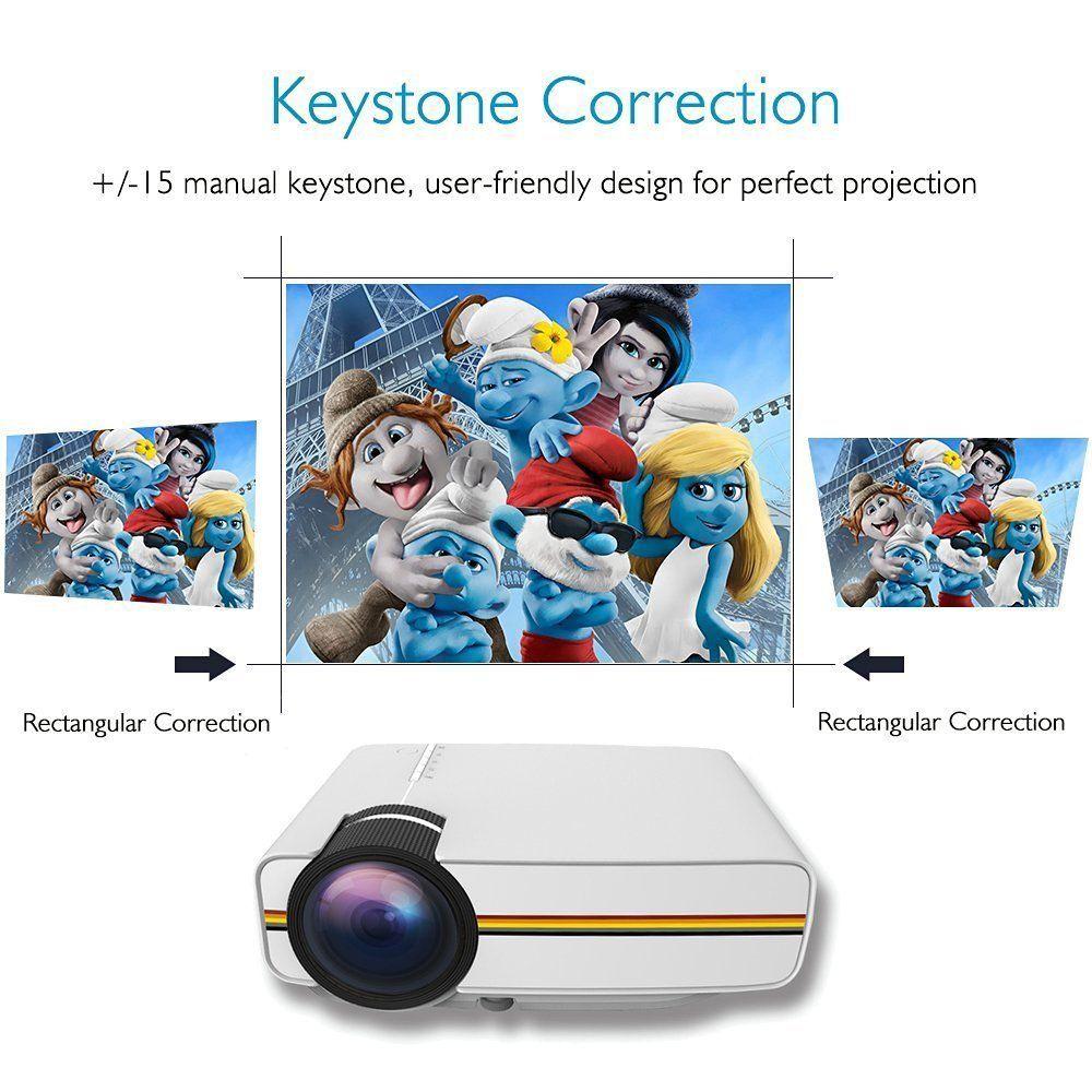 Mini Projector WEILIANTE HD Video Projector 1080P 1200 Lumen Home ...