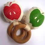 organic fabric apple rattle-madeit <3