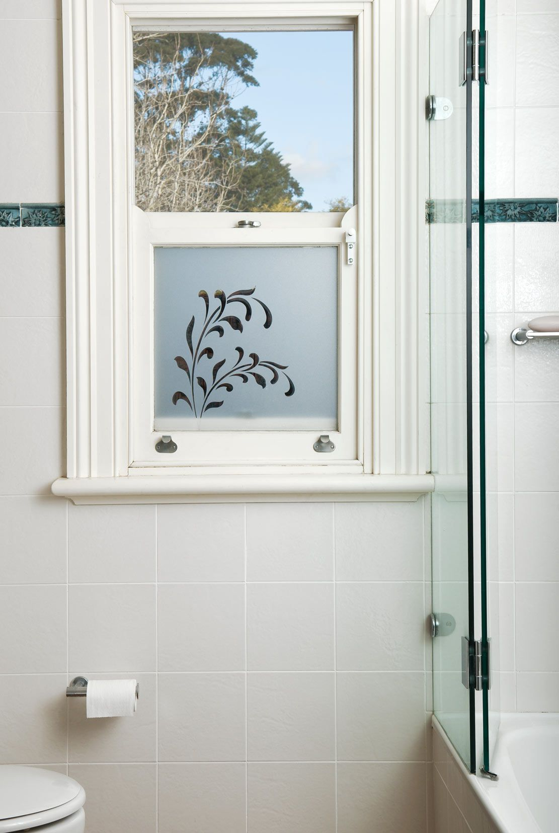 Custom made frosted window film by frost co window film perfect for bathrooms