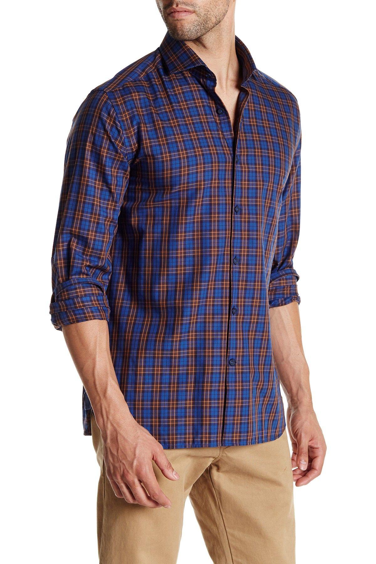 Regular Fit Tartan Plaid Long Sleeve Shirt