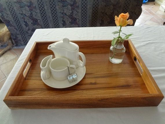 Reclaimed  Acacia Wood Serving Tray 14 X 20  FREE by RoseZBare