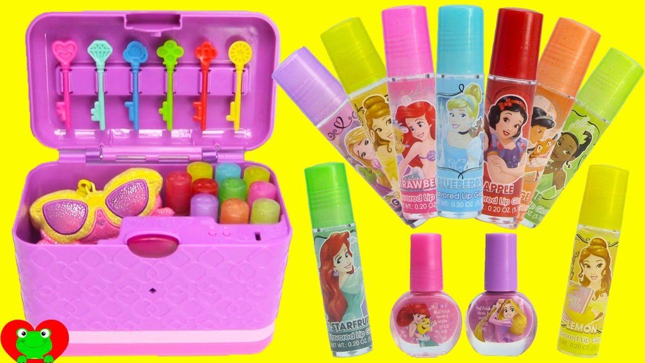 4f155e2138 Secret Keepsake Password Journal Box with Disney Princess Lip Balms and .
