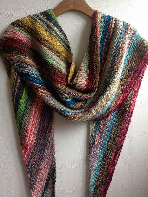 Scrappy Bias Shawl - Free Pattern (Beautiful Skills ...