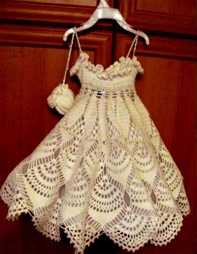 Мастер класс вязания платья для малышки крючком