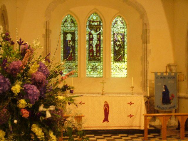 East Window-- St Mary Magdalen, Ripley