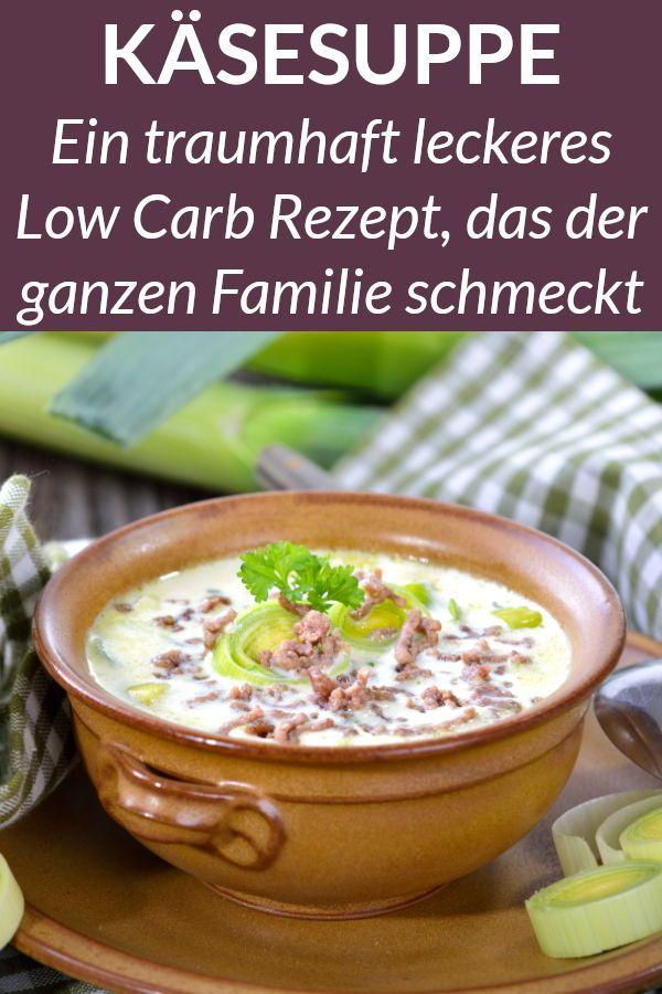 Diese Low Carb Käsesuppe mit Hackfleisch und Lauch ist das perfekte Abendessen …
